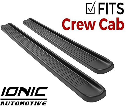 Ionic Factory Style (fits) 2015-2016 Chevy Silverado GMC Sierra Crew Cab Duramax Only Running Boards Side Steps (38008481073)