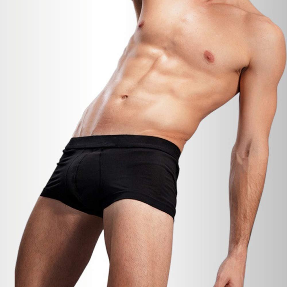 Joywow 4Pack Mens Underwear Modal Unltra Soft Mens Boxer Shorts Trunck Black