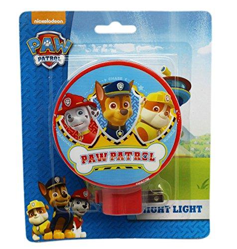 (Paw Patrol Red Colored Shade Swivel Base Night Light)