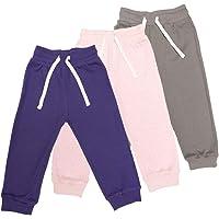 Lovjoy Pantalones Jogger bebés niñas/Pantalones Informales / 100% algodón, Suaves y cómodos