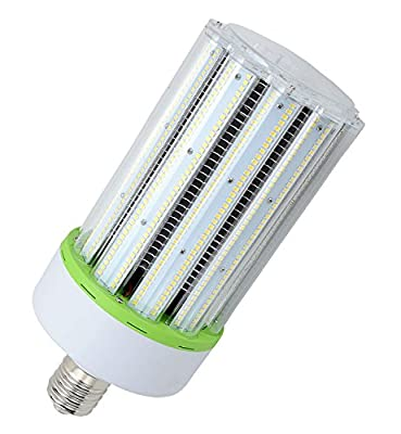 Ebuylights 100 Watt LED Bulb, White 6000K,13000 lumens, E39 Mogul Base,IP60 Anti-Dust Clear PC Cover,High Efficiency LED Corn Light Bulb Replacement for Fixtures HID/HPS/Metal Halide or CFL