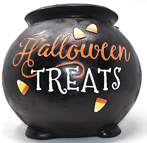 Happy Halloween Large Black Decorative Witchs Cauldron for Halloween Treats Table Decor