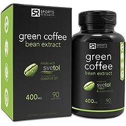 SVETOL Green Coffee Bean Extract, 90 Liquid Softgels with 400mg of Clinically-Proven Svetol Per Cap