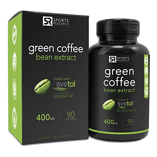 SVETOL Green Coffee Bean Extraction, 90 Liquid Softgels with 400mg of Clinically-Proven Svetol Per Cap