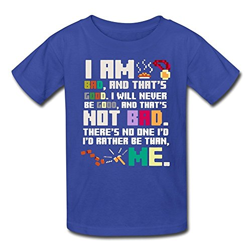 MeiLee Kid's Wreck It Ralph 100% Cotton T Shirt RoyalBlue M