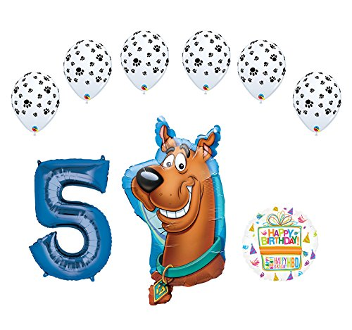Mayflower Products Scooby Doo 5th Birthday Party Supplies Balloon Bouquet - Scooby Doo Latex