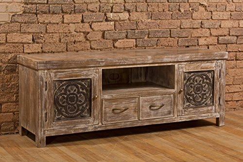 Hillsdale Hundley TV Stand in White Wash