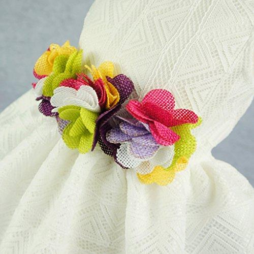 Fitwarm Elegant Floral Dog Sundress Pet Wedding Dress Vest Shirts Cat Clothes, White, XS by Fitwarm (Image #2)