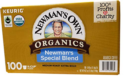 - Newman's Own Special Extra Bold Blend Coffee Single-Serve K-Cups, Medium Roast, 100 Count (Packaging May Vary)