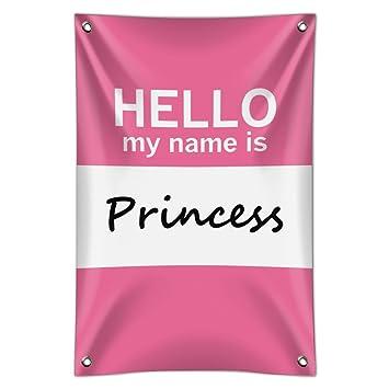 amazon プリンセスhello my name isホームビジネスオフィスsign 22 x