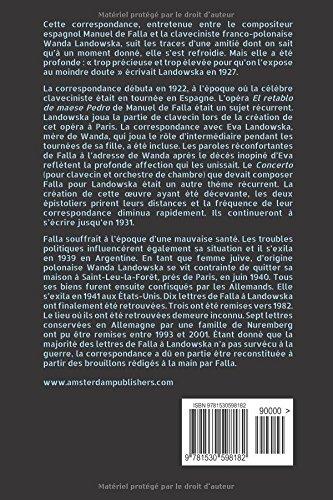 Wanda Landowska - Manuel de Falla : Correspondance 1922-1931 : Mémé et le moine, une amitié précieuse: Amazon.es: Loes Dommering-van Rongen: Libros en ...