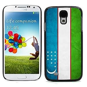 Graphic4You Vintage Uzbek Flag of Uzbekistan Design Hard Case Cover for Samsung Galaxy S4 S IV