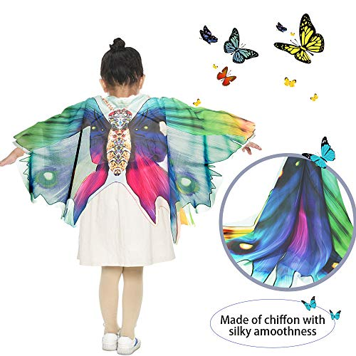 f36678a1b Kids Dreamy Butterfly Wings Costume for Girls Fancy Dress Up Pretend Play  Party Favor (#
