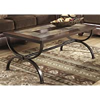 Zandy Medium Brown Color Rectangular Cocktail Table