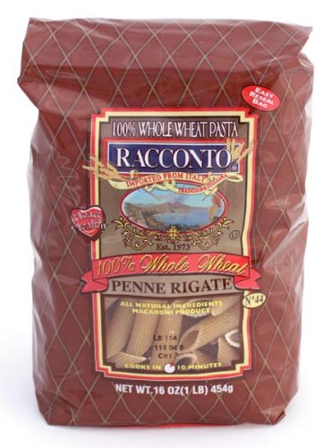 Racconto Whole Wheat Penne Rigate, 16-Ounce Packages (Pack of 12) by Racconto