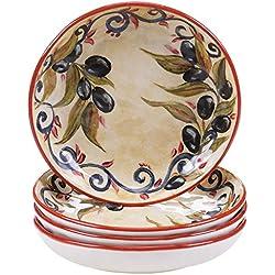 "Certified International Umbria Soup/Pasta Bowl (Set of 4), 8.5"", Multicolor"