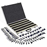 XtremepowerUS 80pcs 1/2'' Shank Carbide Router Bits Tungsten Carbide Bit Set Woodworking Tool Carbon Steel 2 Blade 3 Blade Carrying Case