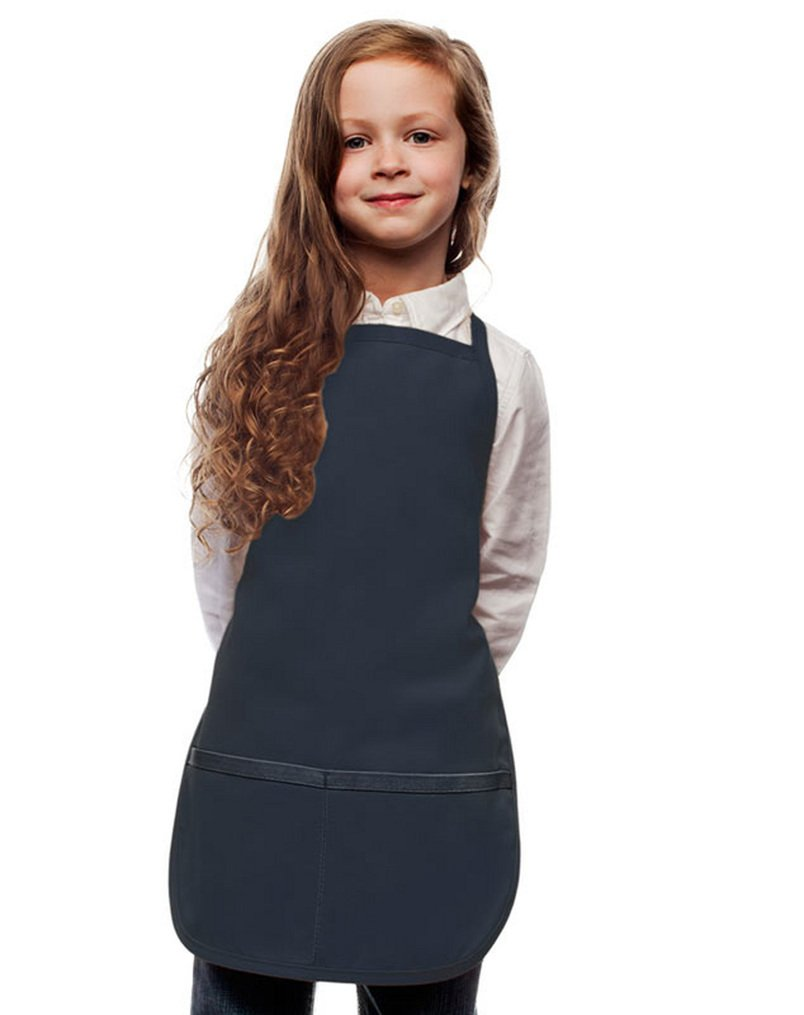 My Little Doc Navy Blue Toddler Apron, Poly/Cotton Twill Fabric