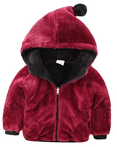 Right Euro Kids Fleece Coat Unisex Baby Reversible Wear Cotton Jacket Outwear Clothing
