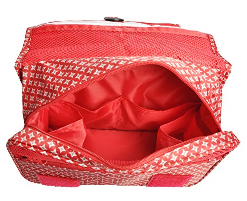 Multifunction Portable Waterproof Travel Kit Toiletry Travel Cosmetic Bag Hanging Hook For Men and Women Red by TxoLIFE (Image #5)