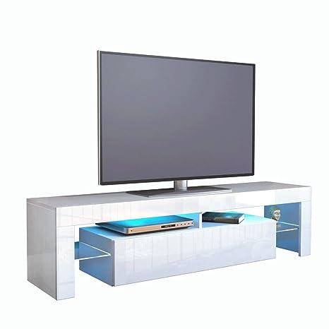 Mobile Tv Bianco Lucido.Kofkever Cesare 1104 Porta Tv Bianco Bianco Lucido Brillante Mobile