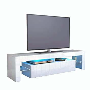 Kofkever Cesare 1104 Porta Tv Bianco/Bianco Lucido Brillante ...