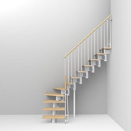 Kompact Modular Staircase L Kit44; White