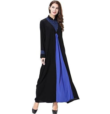 Dreamskull Damen Frauen Muslim Abaya Dubai Muslimische Kleid Kleidung  Kleider Arab Arabisch Indien Türkisch Casual Abendkleid Hochzeit Kaftan Robe  Lang ...