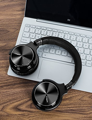COWIN E7 PRO [Upgraded] Active Noise Cancelling Headphones Bluetooth Headphones with Microphone/Deep Bass Wireless Headphones Over Ear 30H Playtime for Travel/Work/TV/Computer/Cellphone - Black by cowin (Image #7)