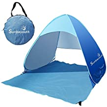 Beach Tent, Sunba youth Portable Outdoor Sun Shelter 90% UV Protection Automatic Pop Up Beach Umbrella