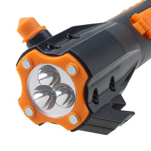 AGPtek 9 in 1 LED Hand-Crank Powered Dynamo LED Flashlight W/ Radio and Phone Charger