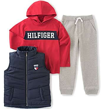 Amazon Tommy Hilfiger Baby Boys 3 Piece Vest Hooded