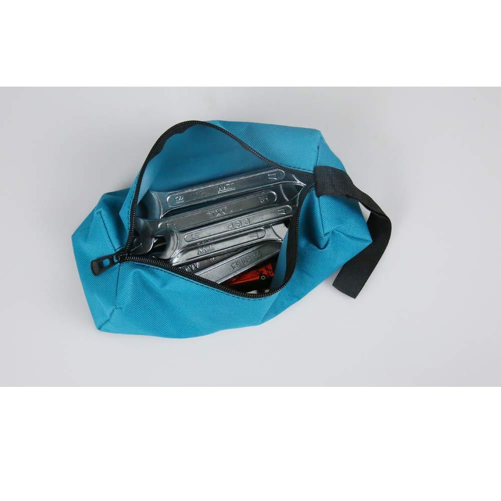 QEES Bolsa de herramientas 5 piezas de lona multiusos peque/ña herramienta organizador de electricista con cremallera 9,5 L x 3,4 W x 2,8 H pulgadas para regalo GJB05