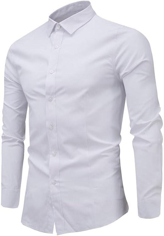 Camisas hombre Hombres de negocios de ocio de manga larga ...