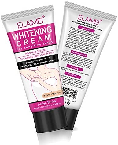 White Cream for Armpit, Underarm and Bikini Line After Hair Removal Intimate Bleaching, Crotch and Nipple Whitening Pinkish, Elbow Knee Ankle Brightening for Hyperpigmentation Treatment