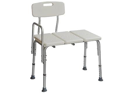 TMS Ajustable Transferencia Banco Taburete de silla silla de ruedas para baño bañera ducha médica asiento