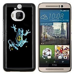 LECELL--Funda protectora / Cubierta / Piel For HTC One M9Plus M9+ M9 Plus -- Azul de la franja de la rana --