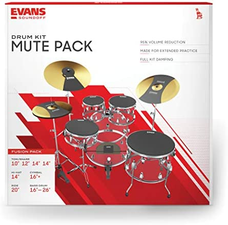 SoundOff by Evans Drum Mute Pak Fusion 10,12,14,14