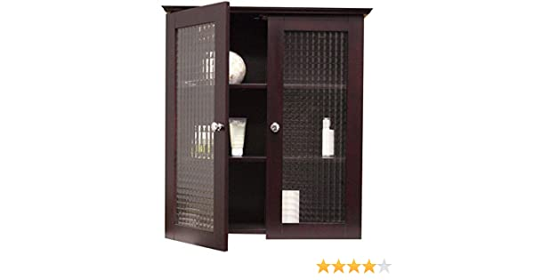 Amazon.com: Windham Wall Cabinet with Two Glass Doors: Kitchen ...