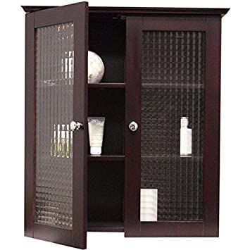 Amazon Windham Wall Cabinet With Two Glass Doors Kitchen Dining