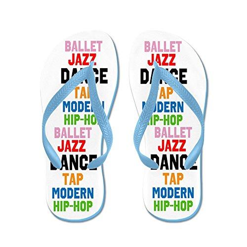 Cafepress Dance Styles # 3 - Chanclas, Sandalias Thong Divertidas, Sandalias De Playa Caribbean Blue