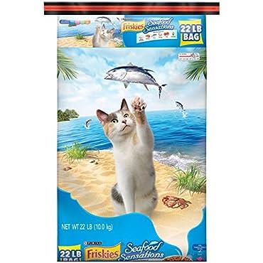 Purina Friskies Seafood Sensations Cat Food, 22 lb. Bag