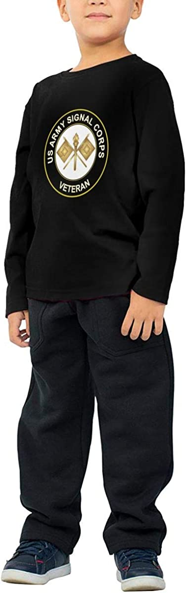 US Army Veteran Signal Corps Boy Girl Fashion ChildLong Sleeve T-Shirt Sweatshirt