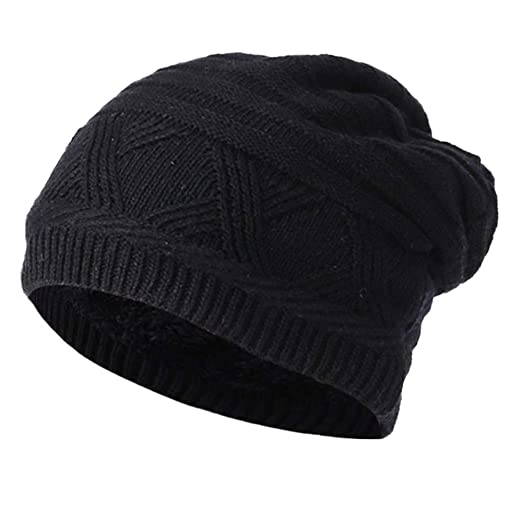 0fb2831acfd Birdfly Knitted Baggy Beanie Cap Men Womens Warm Winter Basic Hat Hooded  (Free