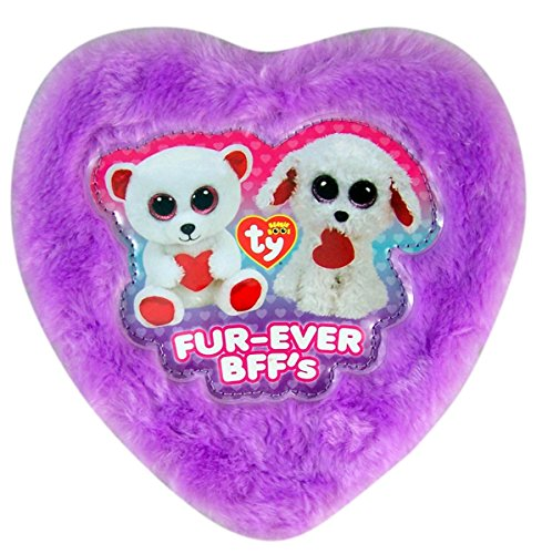 Beanie Boo's Valentines Day Plush Heart Box with Gummy Candy, 4.23 oz (Purple)