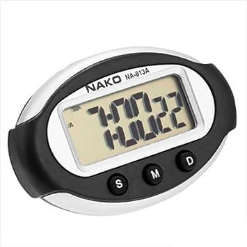 Ociodual Reloj Digital con Soporte Adhesivo para casa Coche Fecha Hora Alarma Cronometro: Amazon.es: Electrónica