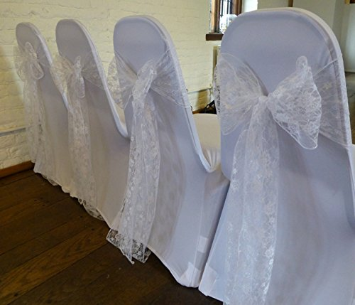 pack of 50 Wedding Chair Lace Bow Sash Wedding chair sash sashes Venue Decoration Party -