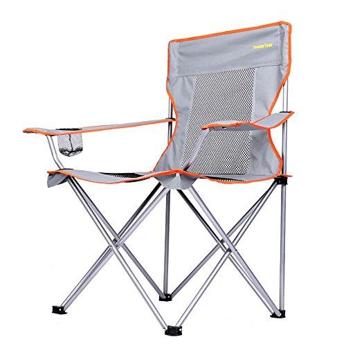 Jack Mall Grands fauteuils pliants chaises extérieures Chaises de pêche portatives Camping Chaises de plage