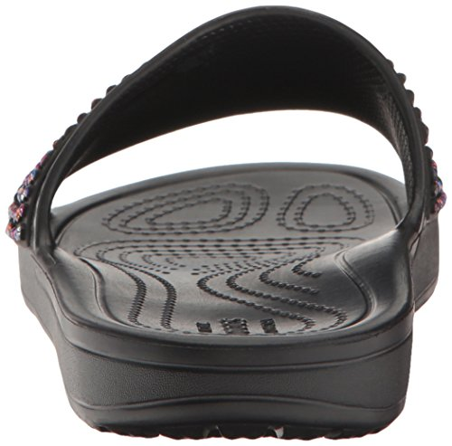 Sandal Women's Multi Sloane Crocs Black Slide Embellished BvFxwxS