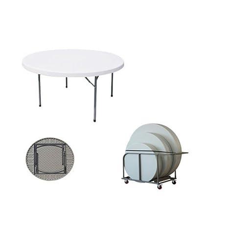 Tavoli Pieghevoli Per Ristoranti.Milanihome Tavolo Catering Rotondo In Metallo E Abs Bianco O 150 Con